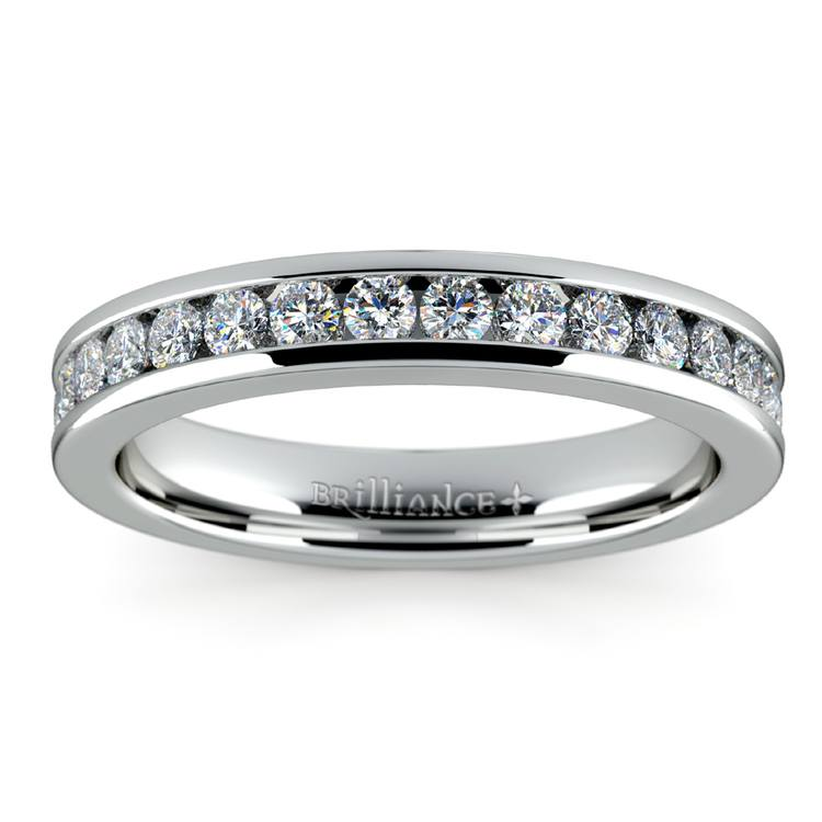 Channel Diamond Band in Platinum (1/2 ctw) | 02