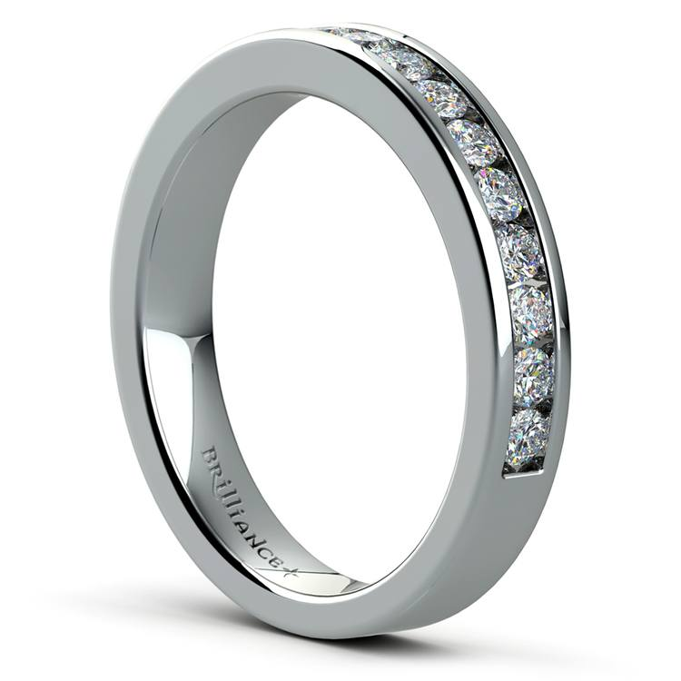 Channel Diamond Band in White Gold (1/2 ctw) | 04