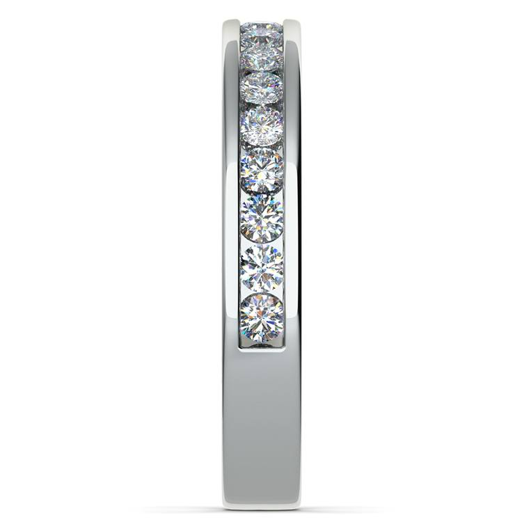 Channel Diamond Band in White Gold (1/2 ctw) | 05