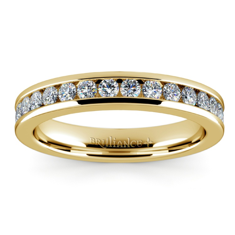 Channel Diamond Band in Yellow Gold (1/2 ctw) | 02