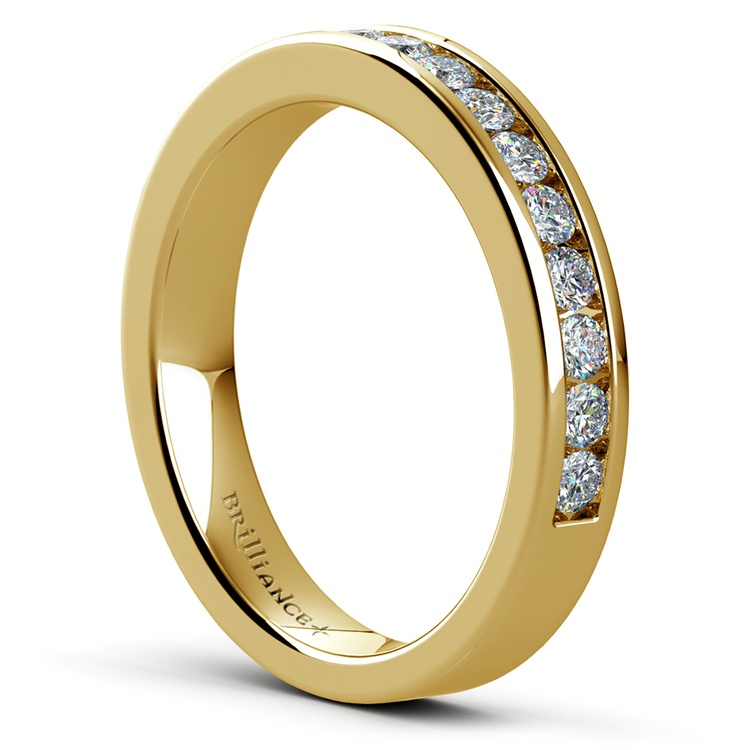 Channel Diamond Band in Yellow Gold (1/2 ctw) | 04