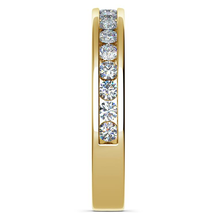 Channel Diamond Band in Yellow Gold (1/2 ctw) | 05