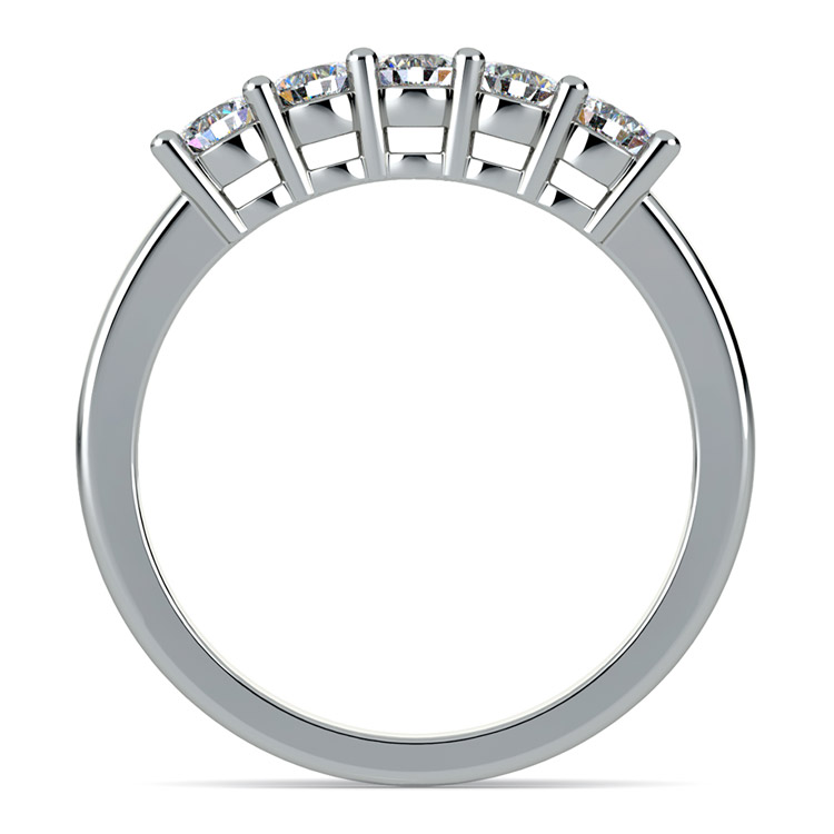 Five Diamond Wedding Ring in White Gold (1/2 ctw) | 03