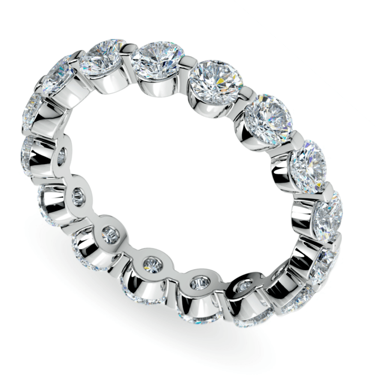 Floating Diamond Eternity Ring in White Gold (2 1/2 ctw) | 01