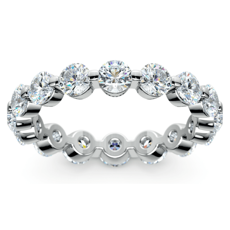 Floating Diamond Eternity Ring in White Gold (2 1/2 ctw) | 02
