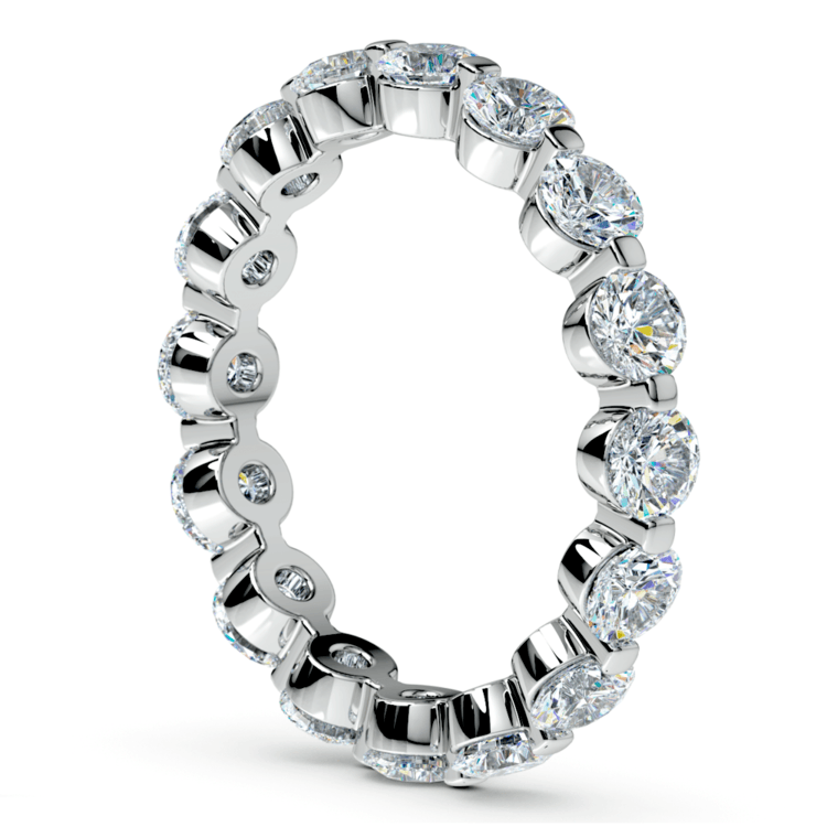 Floating Diamond Eternity Ring in White Gold (2 1/2 ctw) | 04