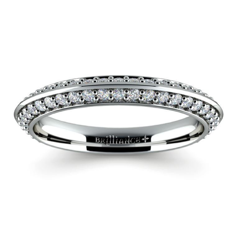 Knife Edge Diamond Wedding Ring in White Gold (1/2 ctw) | 02