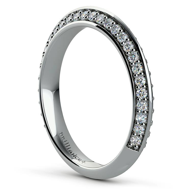 Knife Edge Diamond Wedding Ring in White Gold (1/2 ctw) | 04