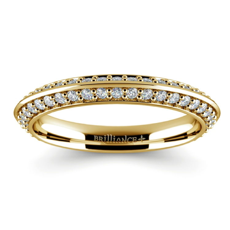 Knife Edge Diamond Wedding Ring in Yellow Gold (1/2 ctw) | 02