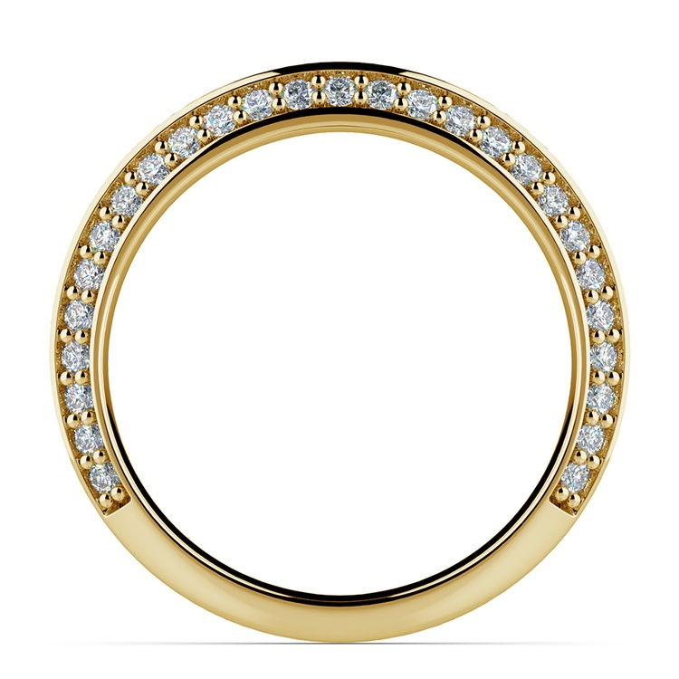 Knife Edge Diamond Wedding Ring in Yellow Gold (1/2 ctw) | 03
