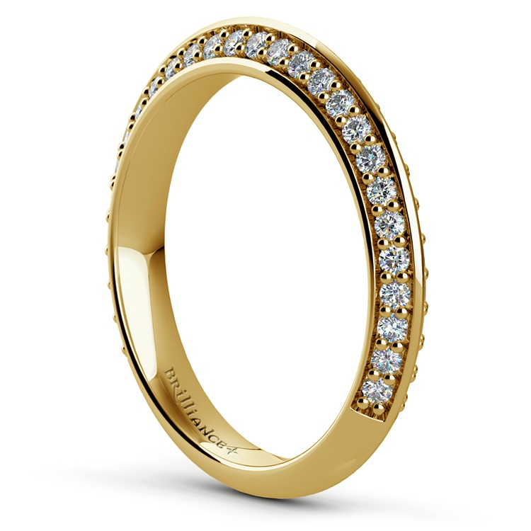 Knife Edge Diamond Wedding Ring in Yellow Gold (1/2 ctw) | 04