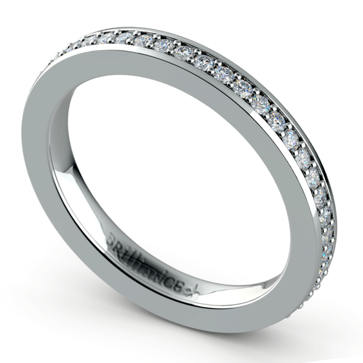 Pave Diamond Eternity Ring in White Gold (1/2 ctw) | 01