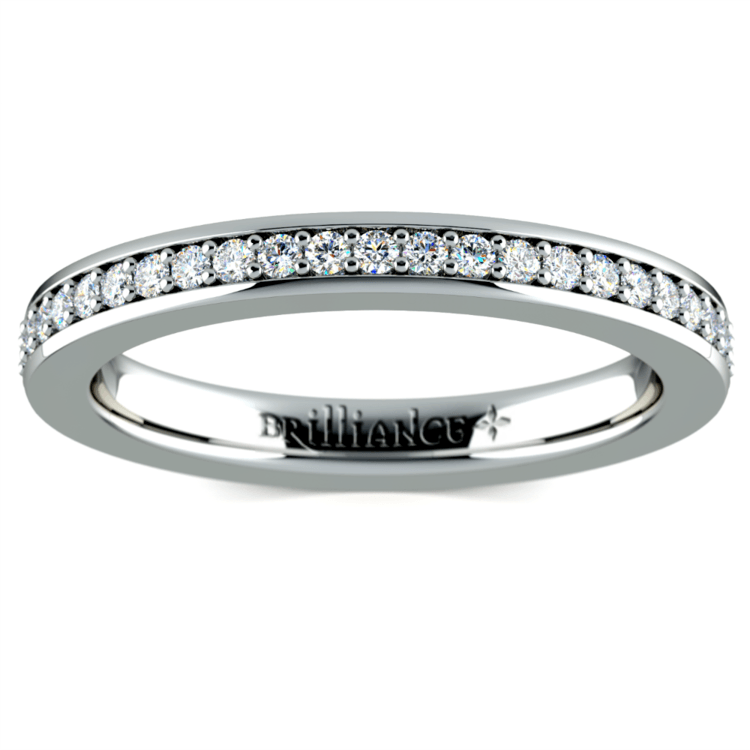 Pave Diamond Eternity Ring in White Gold (1/2 ctw) | 02