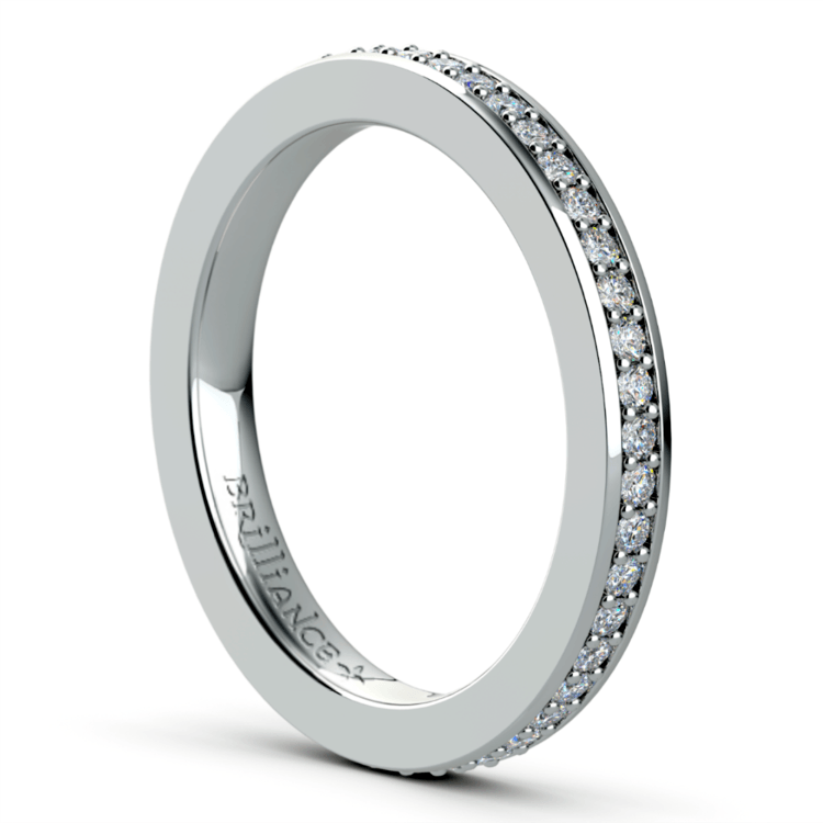 Pave Diamond Eternity Ring in White Gold (1/2 ctw) | 04