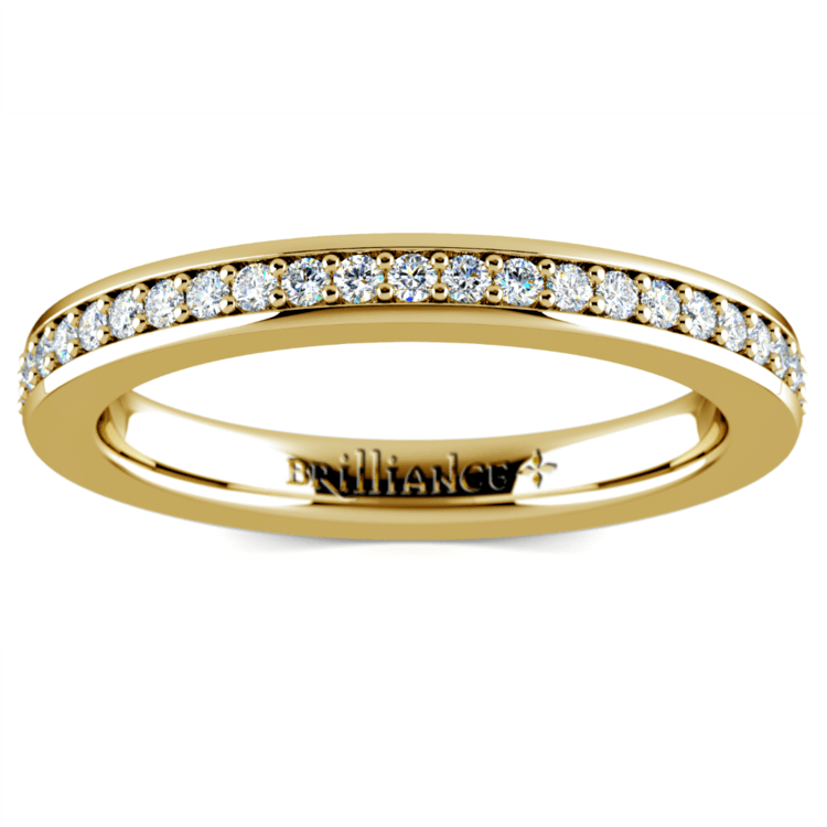 Pave Diamond Eternity Ring in Yellow Gold (1/2 ctw) | 02