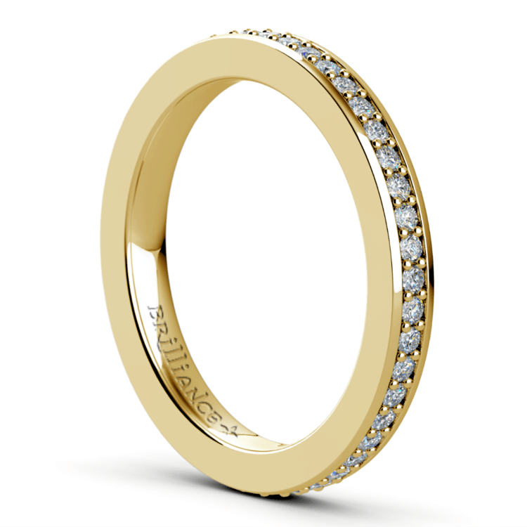 Pave Diamond Eternity Ring in Yellow Gold (1/2 ctw) | 04
