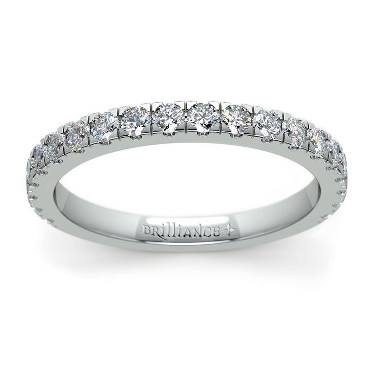 Petite Pave Diamond Wedding Ring in Platinum | 02