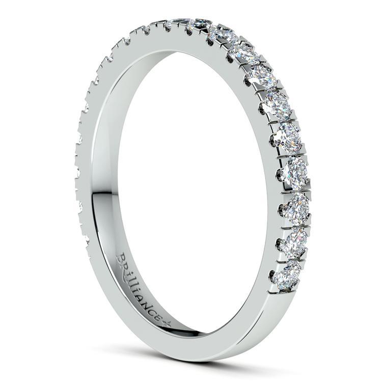 Petite Pave Diamond Wedding Ring in Platinum | 05