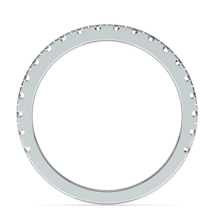 Petite Pave Diamond Wedding Ring in White Gold | 03