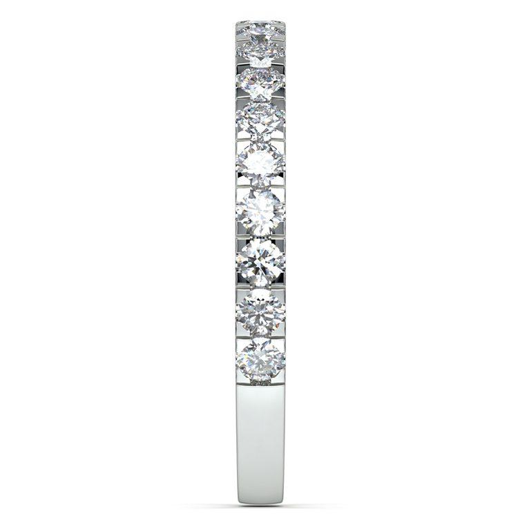 Petite Pave Diamond Wedding Ring in White Gold | 04