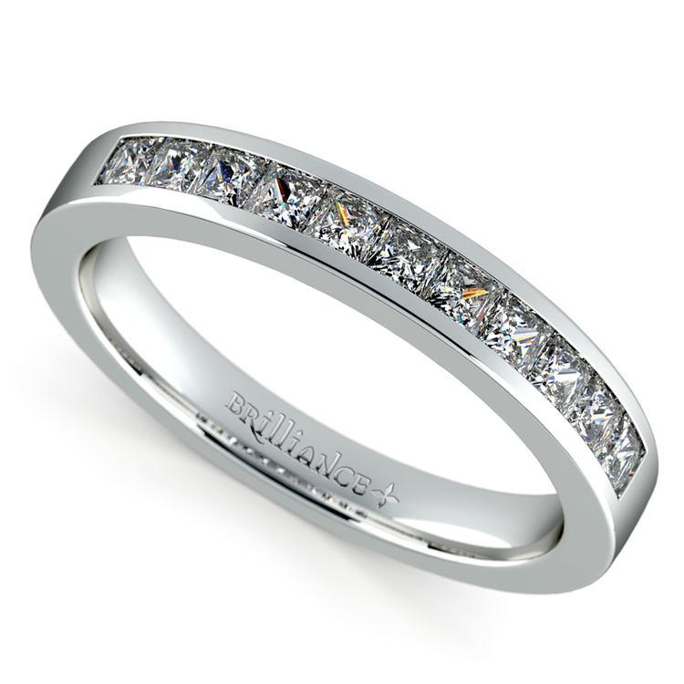 Princess Channel Diamond Wedding Ring in Platinum (1/2 ctw) | 01