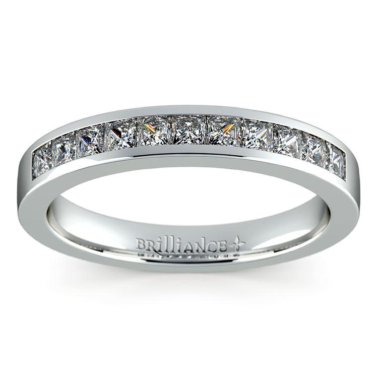 Princess Channel Diamond Wedding Ring in Platinum (1/2 ctw) | 02
