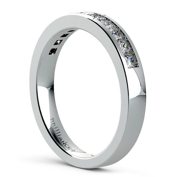 Princess Channel Diamond Wedding Ring in Platinum (1/2 ctw) | 04
