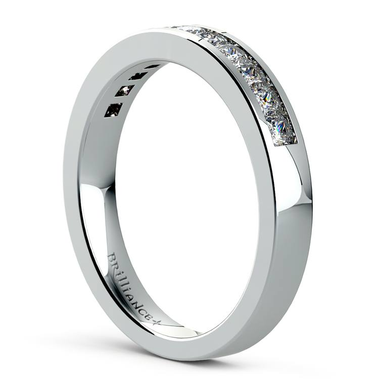 Princess Channel Diamond Wedding Ring in White Gold (1/2 ctw) | 04