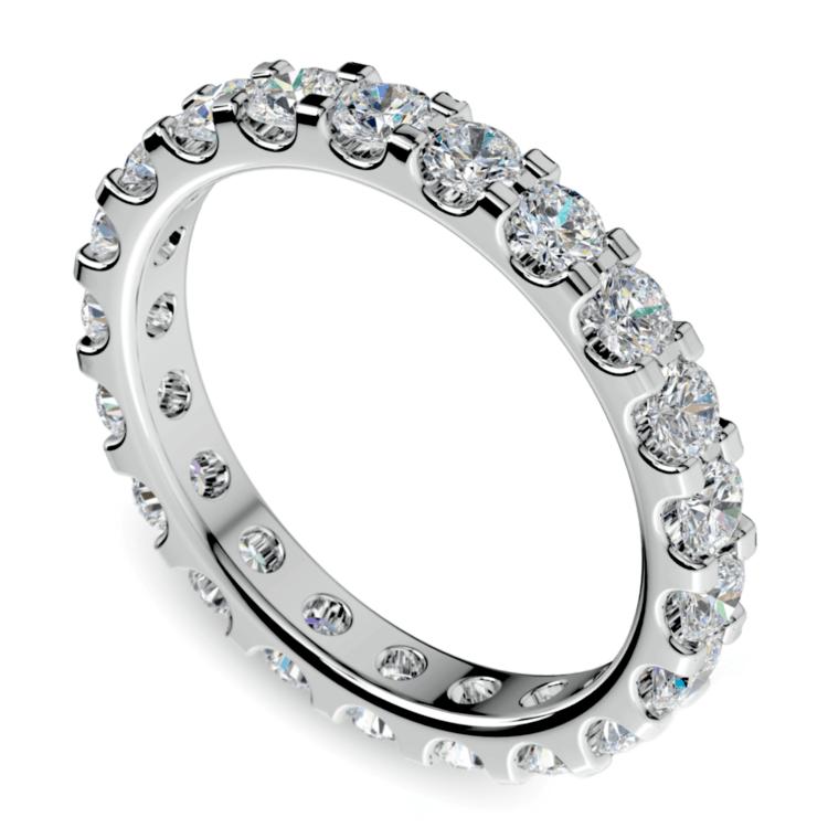 Scallop Diamond Eternity Ring in Platinum (1 1/2 ctw) | 01
