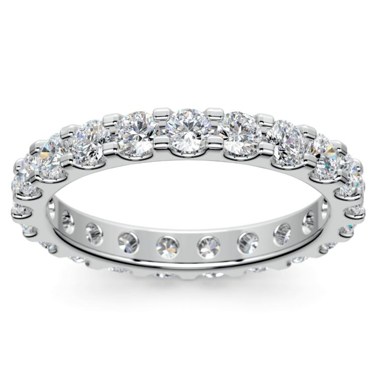 Scallop Diamond Eternity Ring in Platinum (1 1/2 ctw) | 02