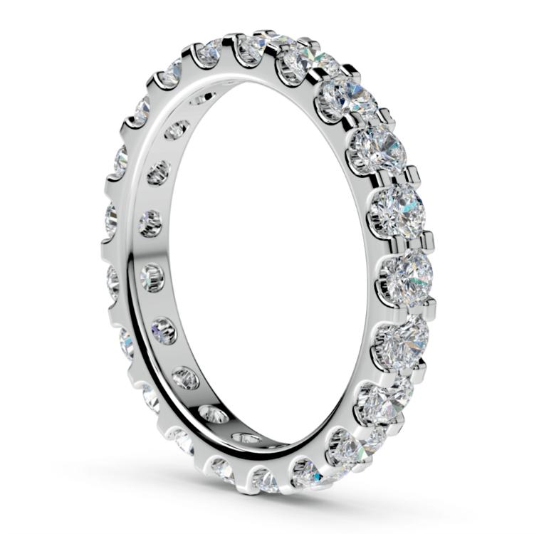 Scallop Diamond Eternity Ring in Platinum (1 1/2 ctw) | 04