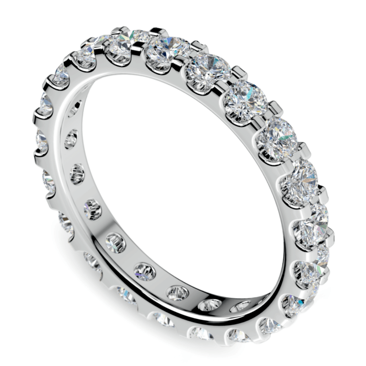 Scallop Diamond Eternity Ring in White Gold (1 1/2 ctw) | 01