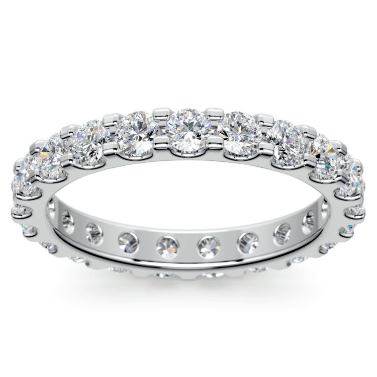 Scallop Diamond Eternity Ring in White Gold (1 1/2 ctw) | 02