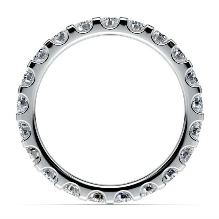 Scallop Diamond Eternity Ring in White Gold (1 1/2 ctw) | 03