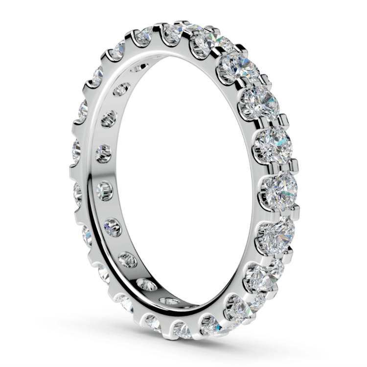 Scallop Diamond Eternity Ring in White Gold (1 1/2 ctw) | 04
