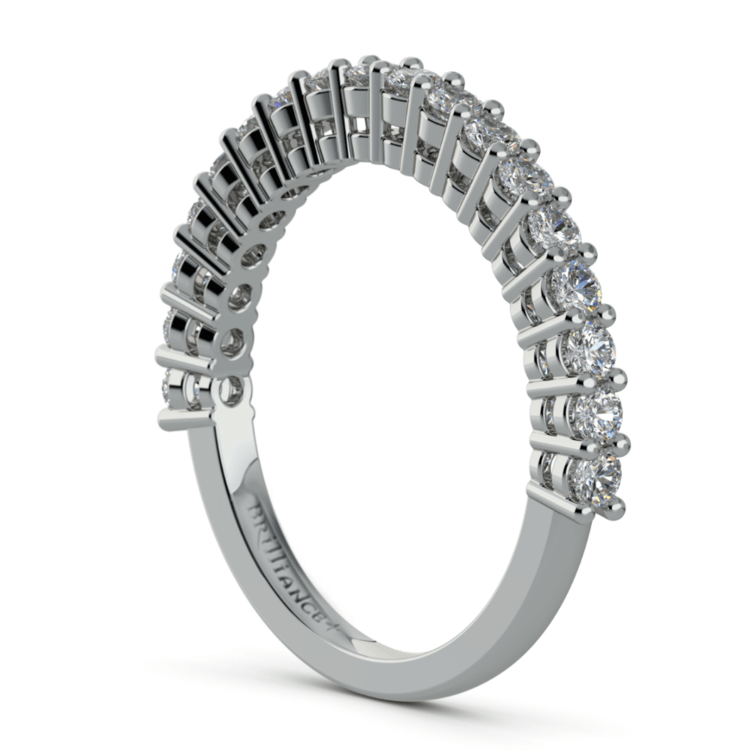 Shared Prong Diamond Wedding Ring in White Gold  | 04