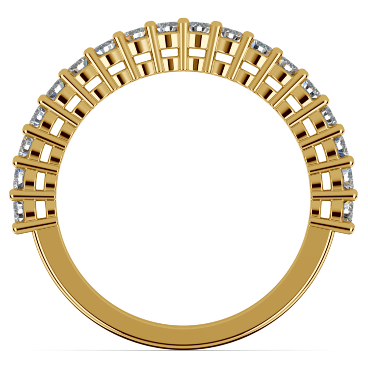 Shared Prong Diamond Wedding Ring in Yellow Gold   03