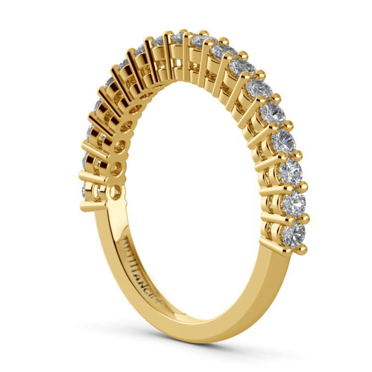Shared Prong Diamond Wedding Ring in Yellow Gold | 04