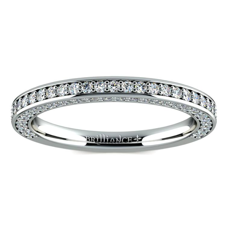 Three Sided Diamond Wedding Ring in Platinum (1/2 ctw) | 02