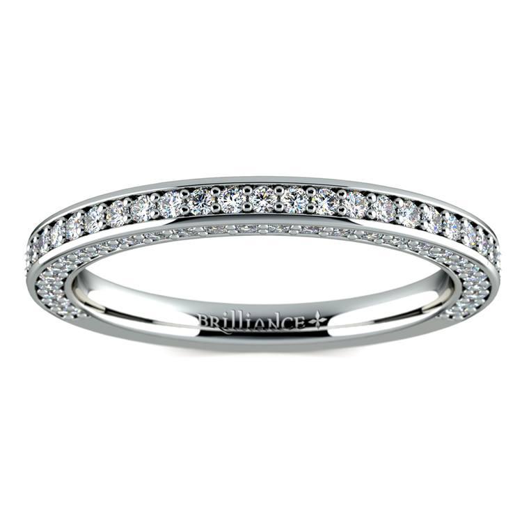 Three Sided Diamond Wedding Ring in White Gold (1/2 ctw) | 02