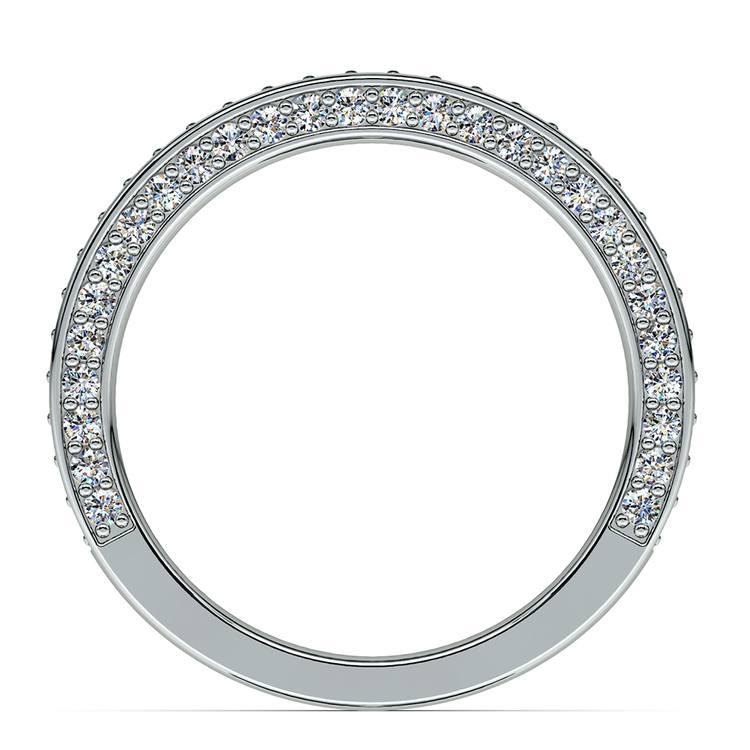 Three Sided Diamond Wedding Ring in White Gold (1/2 ctw) | 03