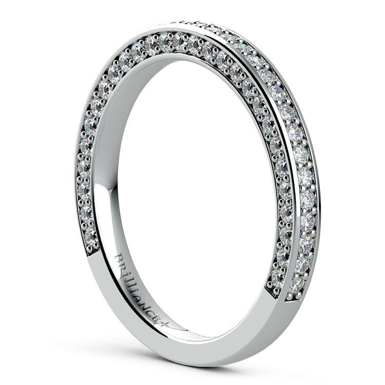 Three Sided Diamond Wedding Ring in White Gold (1/2 ctw) | 04