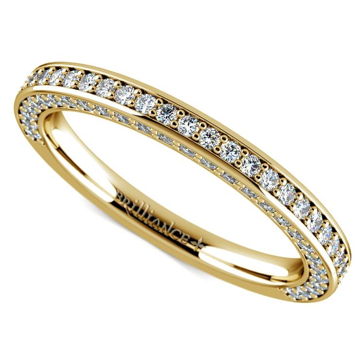 Three Sided Diamond Wedding Ring in Yellow Gold (1/2 ctw) | 01