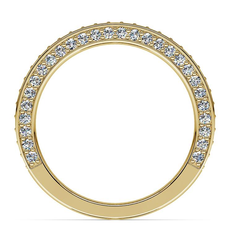 Three Sided Diamond Wedding Ring in Yellow Gold (1/2 ctw) | 03