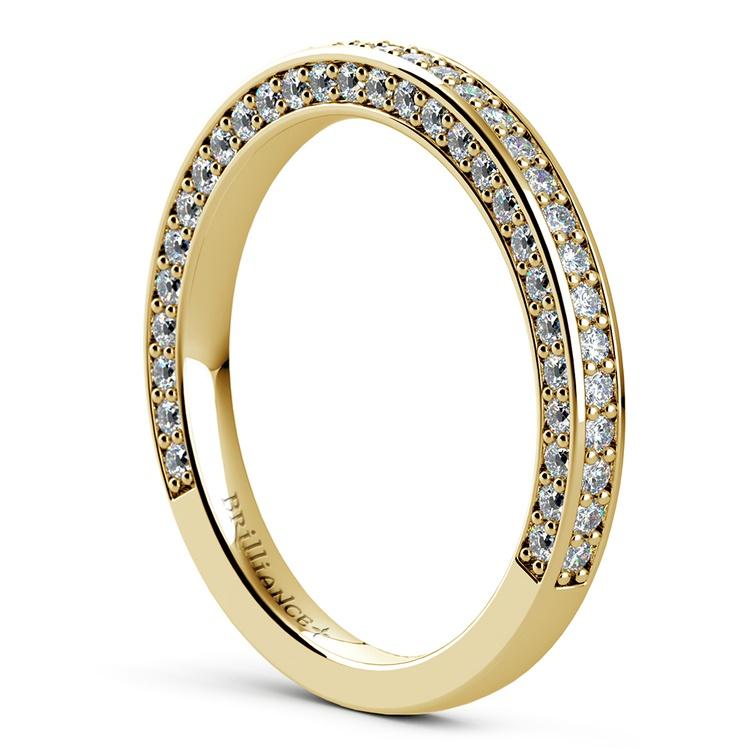Three Sided Diamond Wedding Ring in Yellow Gold (1/2 ctw) | 04