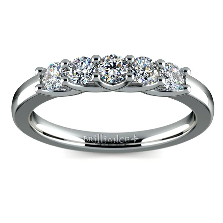 Trellis Five Diamond Wedding Ring in Palladium | 02