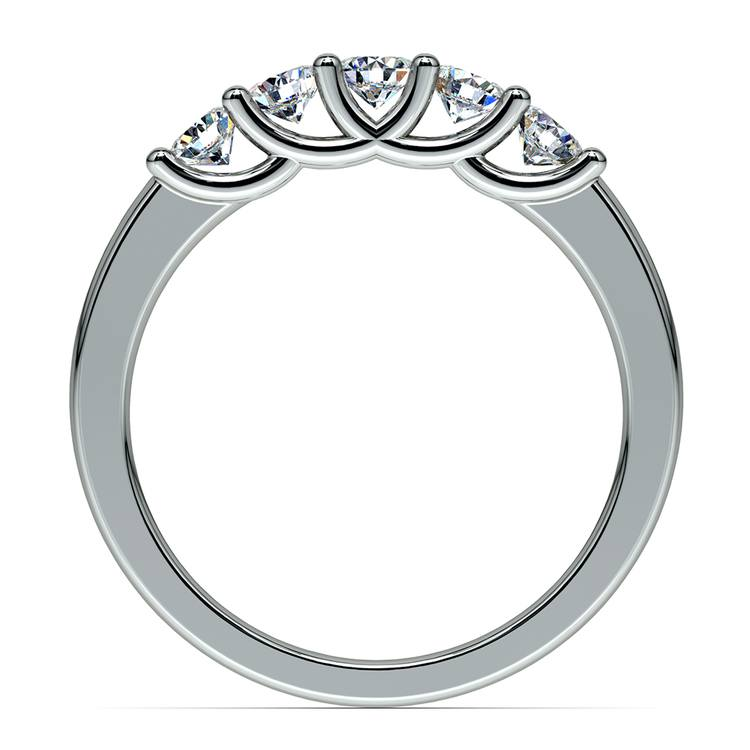 Trellis Five Diamond Wedding Ring in Platinum | 03