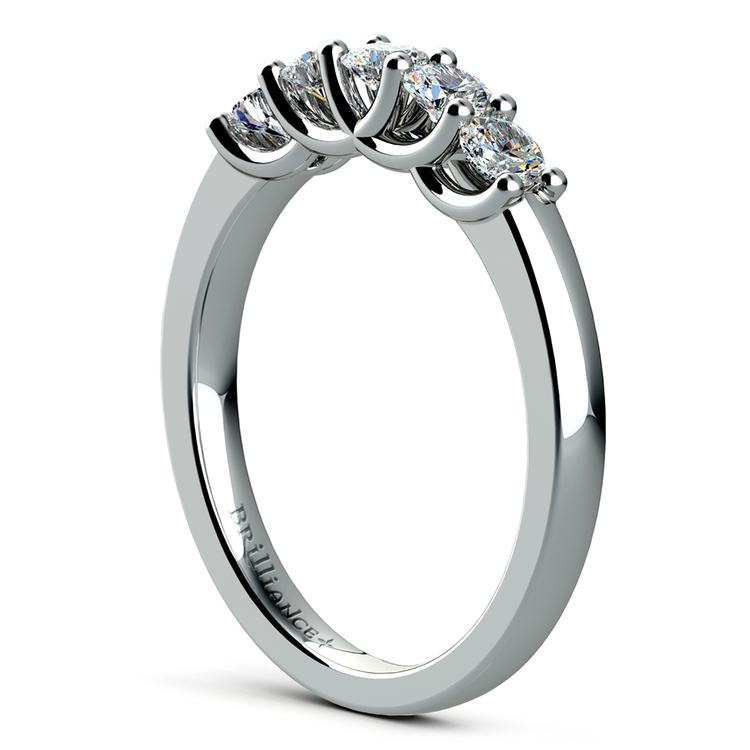Trellis Five Diamond Wedding Ring in Platinum | 04