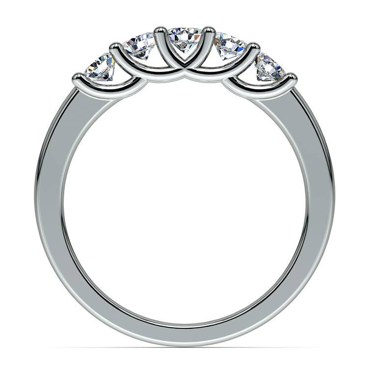 Trellis Five Diamond Wedding Ring in White Gold | 03