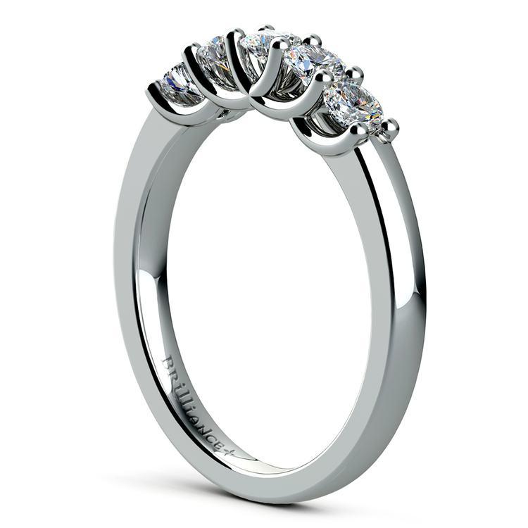 Trellis Five Diamond Wedding Ring in White Gold | 04